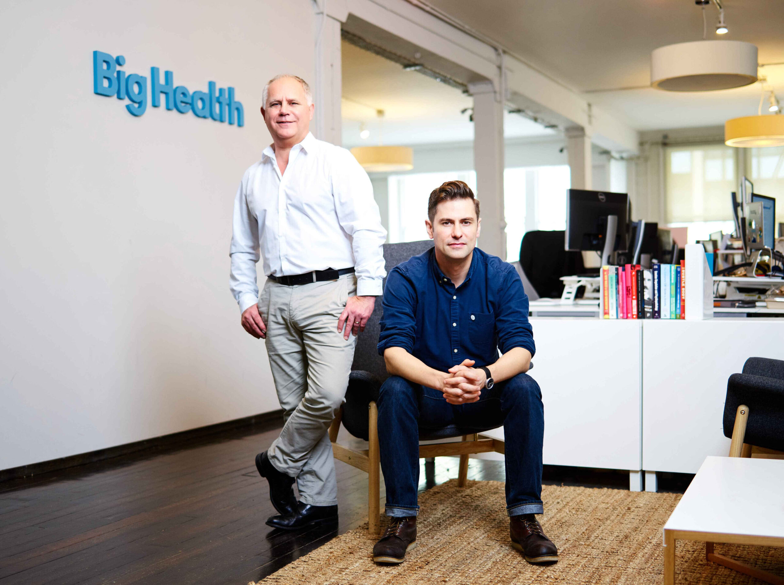 Peter Hames & Colin Espie, together at Big Health's offices in San Francisco, CA.